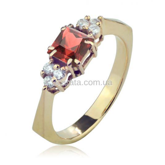 Золотое кольцо с гранатом «Дороги любви 2»
