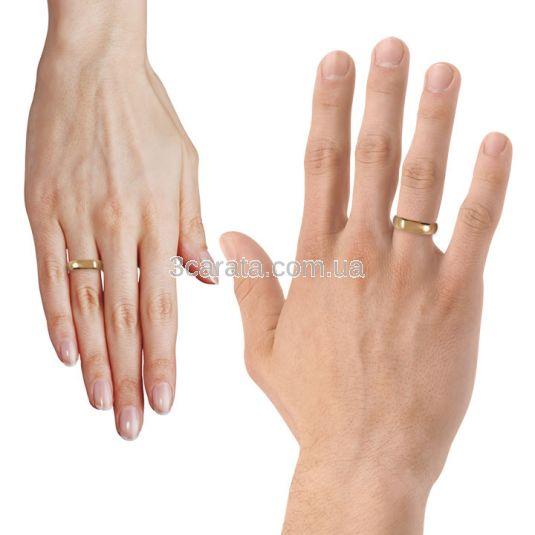 Классическое обручальное кольцо «Perfect classic»