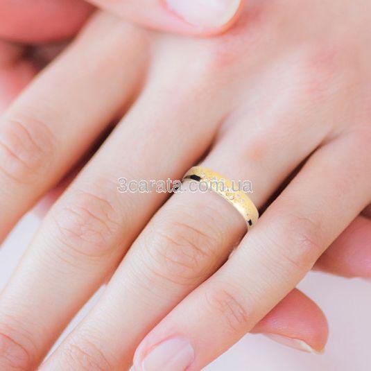 Эксклюзивное свадебное кольцо с бриллиантами «Fedelta»
