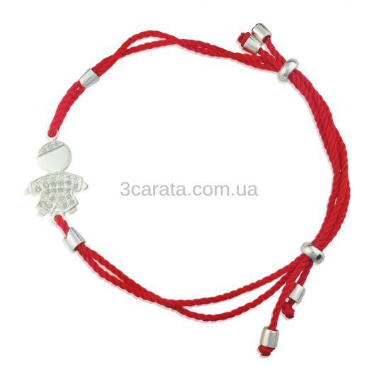 Золотой мамин браслет «Мой малыш» с красной нитью