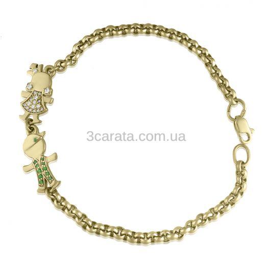 Золотой браслет для мамы «Mummy Jewel»