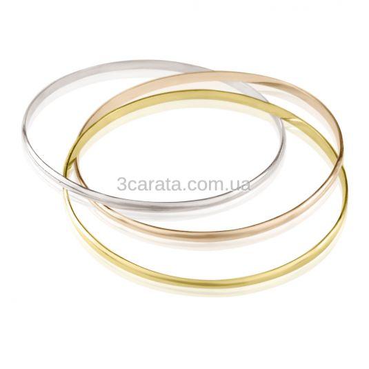 Золотой браслет из трех колец «Тринити»