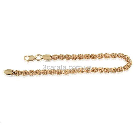 Золотой браслет плетения «Роза»