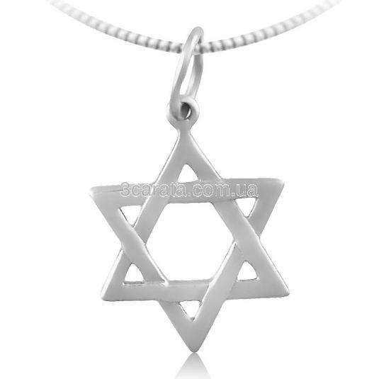 Золотой кулон «Звезда Давида»