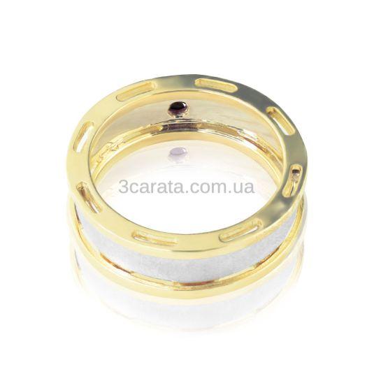 Эксклюзивный мужской перстень с черным бриллиантом «Арагорн»