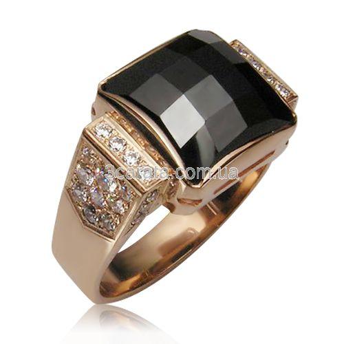 Золотой перстень с цирконием «Орфей» 2410fc67d877d