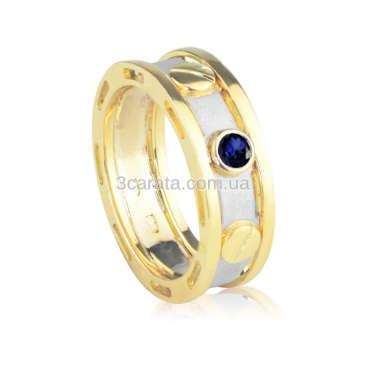 Эксклюзивный мужской перстень с сапфиром «Арагорн»
