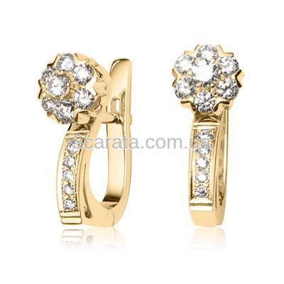 Серьги женские с бриллиантами «Fortunata»