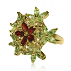 Золотое кольцо с хризолитом «Marie Antoinette»