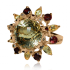 Золотое кольцо с цитрином «Аделина Фраучи»