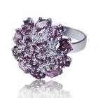 Золотое кольцо с аметистом «Джорджина Бальви»