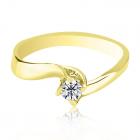 Золота каблучка на заручини з діамантом 0.29 карат «Франческа»