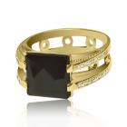 Золотое кольцо с раухтопазом и бриллиантами «Фузар де Полли»