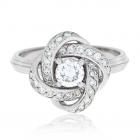 Эксклюзивное золотое кольцо с бриллиантами «Офелия»