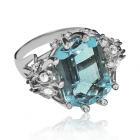 Золоте кільце з топазом і діамантами «Франка Рамме»
