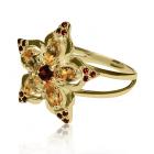 Золотое кольцо с цитрином «Fiore luminoso»