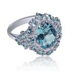 Золотое кольцо с топазом «Милэда Буффон»