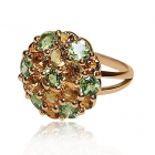 Золотое кольцо «Цветочная мечта»