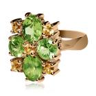Золотое кольцо с хризолитом «Il fascino molto»
