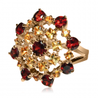 Золотое кольцо с гранатом «Лоренцо ди Креди»