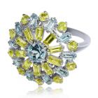 Золотое кольцо с хризолитом «Bella Beatrice»