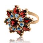 Золотое кольцо с гранатом «Габриэла»
