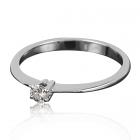 Золотое кольцо помолвочное с бриллиантом