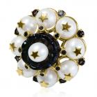 Золоте кільце з перлинами «Genoveffa Parthi»