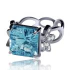 Золоте кільце з топазом і діамантами «Мірелла Френі»