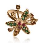 Золотое кольцо с демантоидом «Carlota Butte»