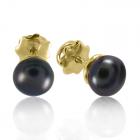 Золоті сережки з перлами «Адела»