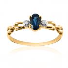 Золотое кольцо с топазом и фианитами «Vita»