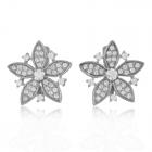 Золоті сережки з фіанітами «Дика орхідея»
