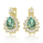 Золоті сережки зі смарагдом «Jezero-Emerald»