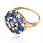 Золотое кольцо с сапфирами «Принцесса»