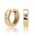 Золотые серьги с бриллиантами «Cipriano»