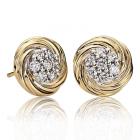 Золоті сережки з діамантами «Giorgio»