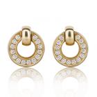 Золотые серьги с бриллиантами «Italo»