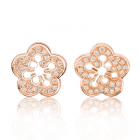 Золотые пусеты с бриллиантами «Giovanni»