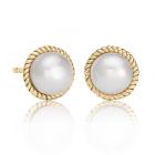 Золоті сережки з перлами «Quirino»