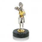 Серебряная статуэтка с позолотой «Моцарт»