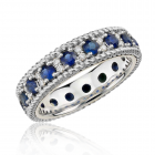 Дорогое кольцо с сапфирами и бриллиантами