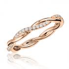 Золотое обручальное кольцо с брилллиантами