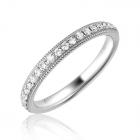 Обручальное кольцо белое золото с бриллиантами
