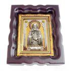 Серебряная икона «Сергий Радонежский» с позолотой