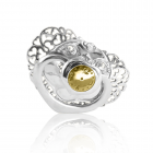 Погремушка из серебра «Соска-пустышка» для девочки