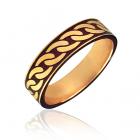 Золота обручка з емаллю «Cannetille»