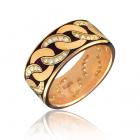 Золота обручка з цирконієм«Cannetille»