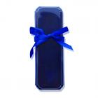 Подарочная упаковка для ложки синяя с бантиком