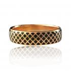 Золота обручка з емаллю «Aida-I»